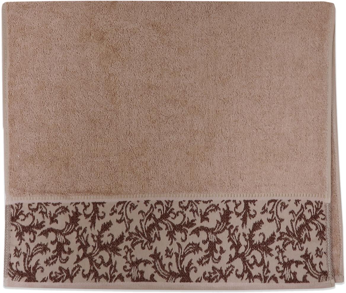 Полотенце махровое Bravo Белиссимо, цвет: коричневый, 70 x 140 см84555Полотенце «Белиссимо» выполнено из натуральной махровой ткани (100% хлопок). Изделие отлично впитывает влагу, быстро сохнет, сохраняет яркость цвета и не теряет форму даже после многократных стирок.С таким полотенцем интерьер и настроение станут ярче!