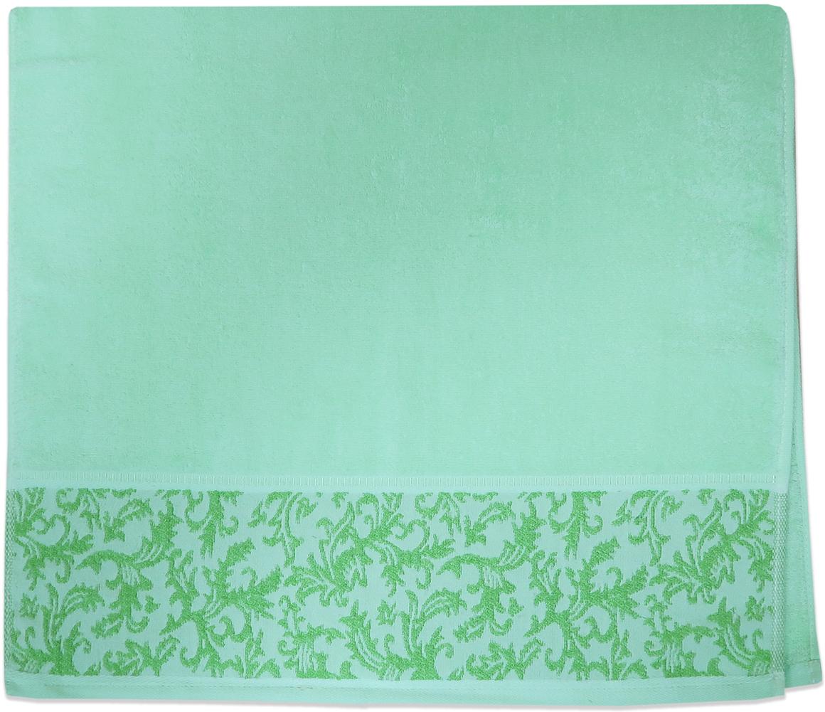 Полотенце махровое Bravo Белиссимо, цвет: зеленый, 70 x 140 см84558Полотенце «Белиссимо» выполнено из натуральной махровой ткани (100% хлопок). Изделие отлично впитывает влагу, быстро сохнет, сохраняет яркость цвета и не теряет форму даже после многократных стирок. С таким полотенцем интерьер и настроение станут ярче!