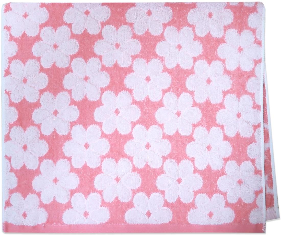 Полотенце махровое Bravo Виола, цвет: розовый, 33 x 70 см