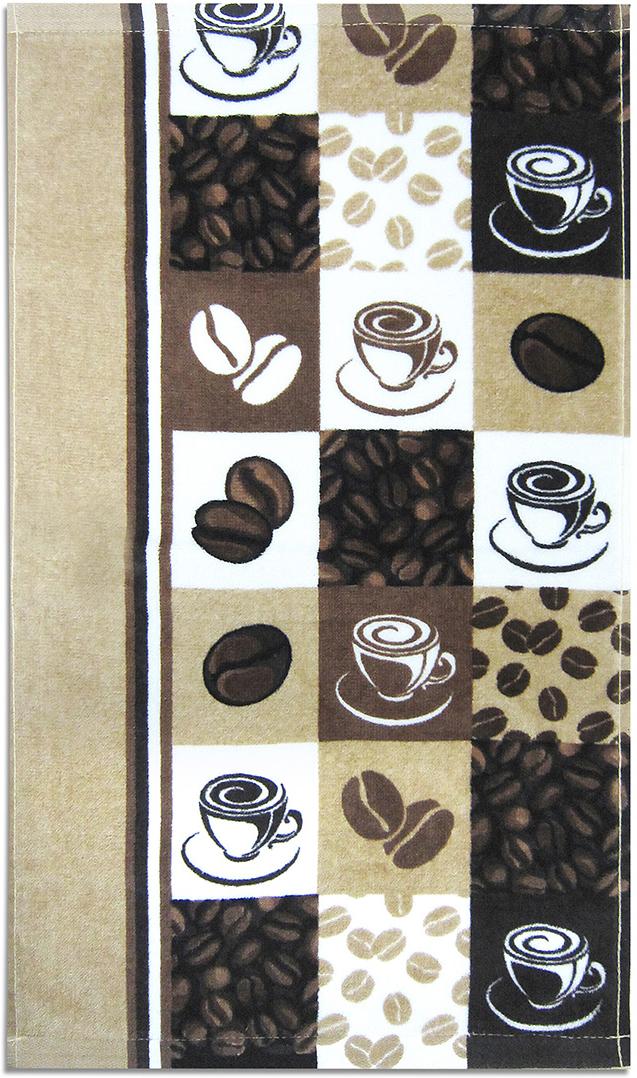 Полотенце махровое Bravo Кофе, цвет: коричневый, 30 x 50 см