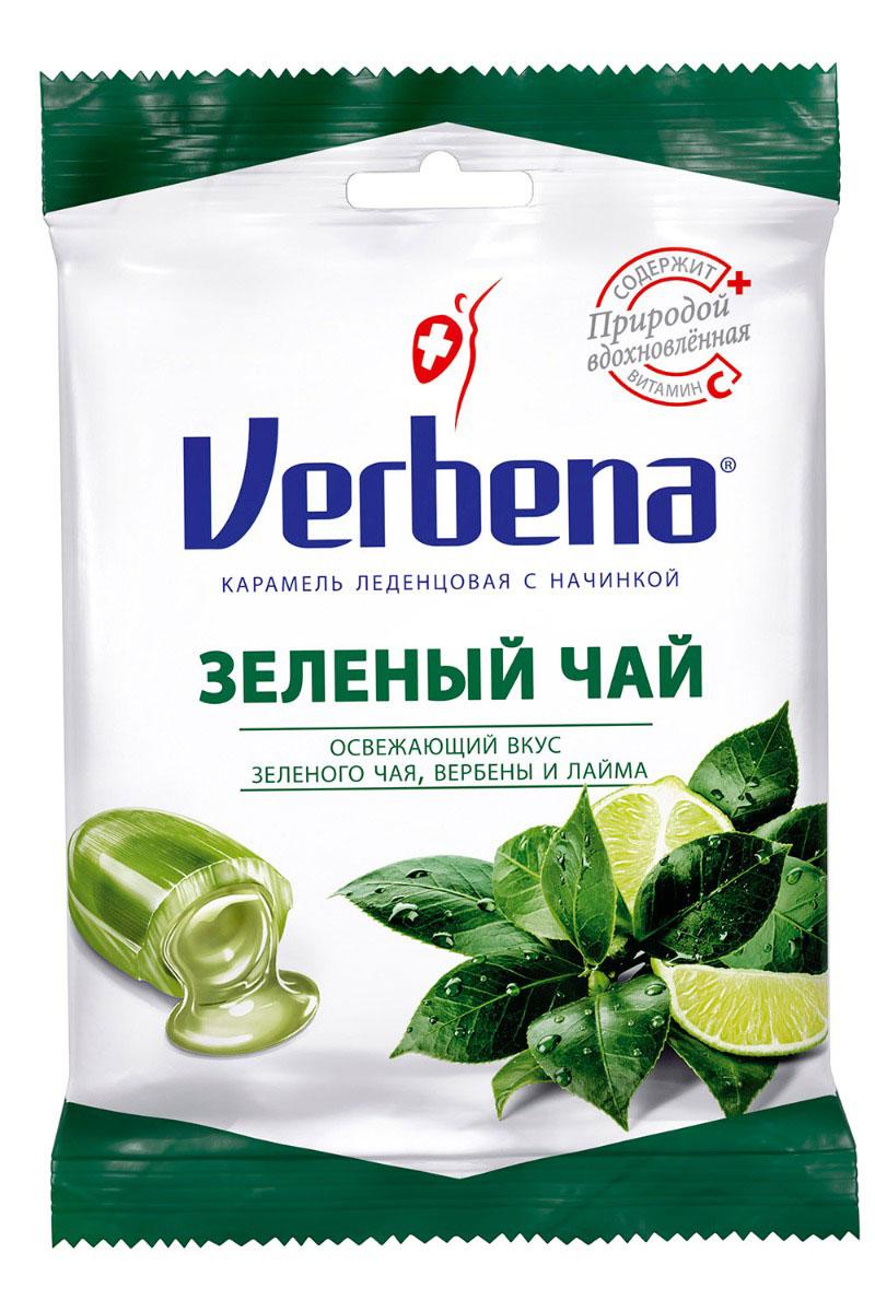 Verbena леденцы зеленый чай, 20 шт по 60 г sula лимон и мед леденцы 18 г