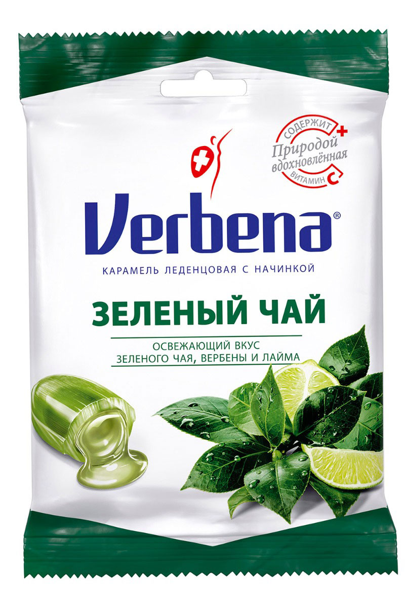 Verbena леденцы зеленый чай, 60 г