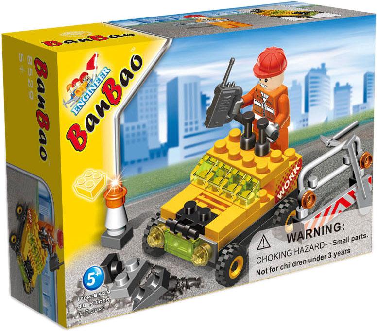 BanBao Конструктор Строительная машинка 48 деталей