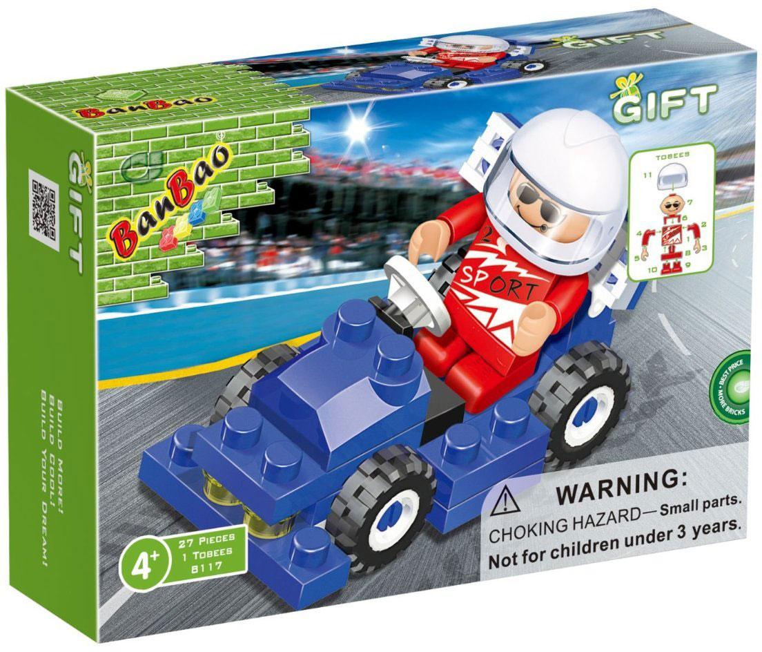 BanBao Конструктор Формула 1синяя 27 деталей