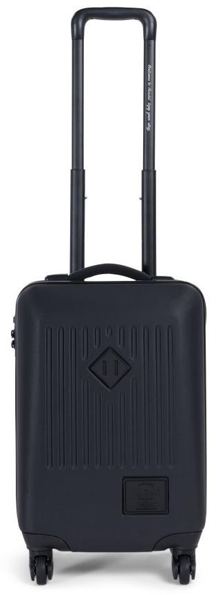 Чемодан Herschel Trade Co, на колесах, цвет: черный, 34 л10336-01587-OSЧетырехколесный чемодан Herschel Trade Co представляет собой высокийуровень качества и долговечности. Наделен жестким корпусом и подходит длякоротких поездок. Функциональные сетчатые перегородки внутри чемодана ижесткая пластиковая оболочка сохранит вещи в полном порядке. Колеса споворотом на 360 градусов и выдвижная ручка позволяют катить чемодан ввертикальном положении и легко маневрировать. Особенности: Чемодан на колесах.Корпус из прочного, легкого,износостойкого поликарбоната.Эксклюзивная черно-белая подкладка вполоску.Основное отделение с крестообразными ремнями и отделением сэластичной сеткой.Двусторонняя молния для открытия основногоотделения с бегунками из кожи. Регулируемая телескопическая ручка. Ручки для переноски с неопреновой подкладкой.Колеса вращаются на 360градусов.Высококачественные закрытые колеса из полиуретана. Прочные молнии с защитой от влаги.Кодовый замок для блокировкибегунков молний.Фирменная фурнитура с тиснением.Фирменныйлоготип Hershel.Размеры: 58 x 38 x 22 см.Объем: 34 л.