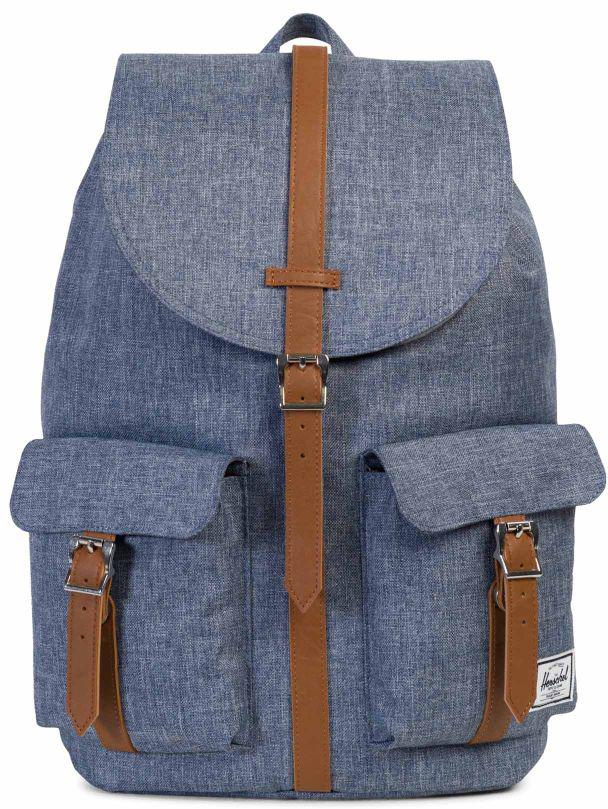 Рюкзак городской Herschel Dawson, цвет: серо-синий, 20,5 л10233-01570-OSСтильный городской рюкзак Herschel Dawson, который отлично подойдет идля учебы, и для работы, и для небольших путешествий. Лаконичный дизайнпозволит сочетать эту модель с любым образом, не говоря уже о том, чтоотделений немного и все они разработаны так, чтобы вы легко могли убратьили достать необходимые вам вещи. Herschel Dawson - это воплощениепрактичности и стиля.Особенности:Просторное основное отделение.Отделение для ноутбука 13. Внешние карманы-клапаны.Основное отделение утягивается шнурком. Магнитная застежка ремешка.Удобная петля для переноски.Регулируемые плечевые ремни.Фирменный ярлычок на кармане. Объем: 20,5 л.