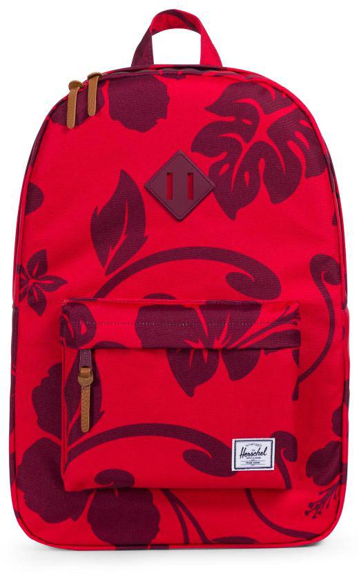 Рюкзак городской Herschel Heritage, цвет: красный, бордовый, 21,5 л рюкзак городской herschel settlement цвет светло зеленый черный 23 л 10005 01555 os