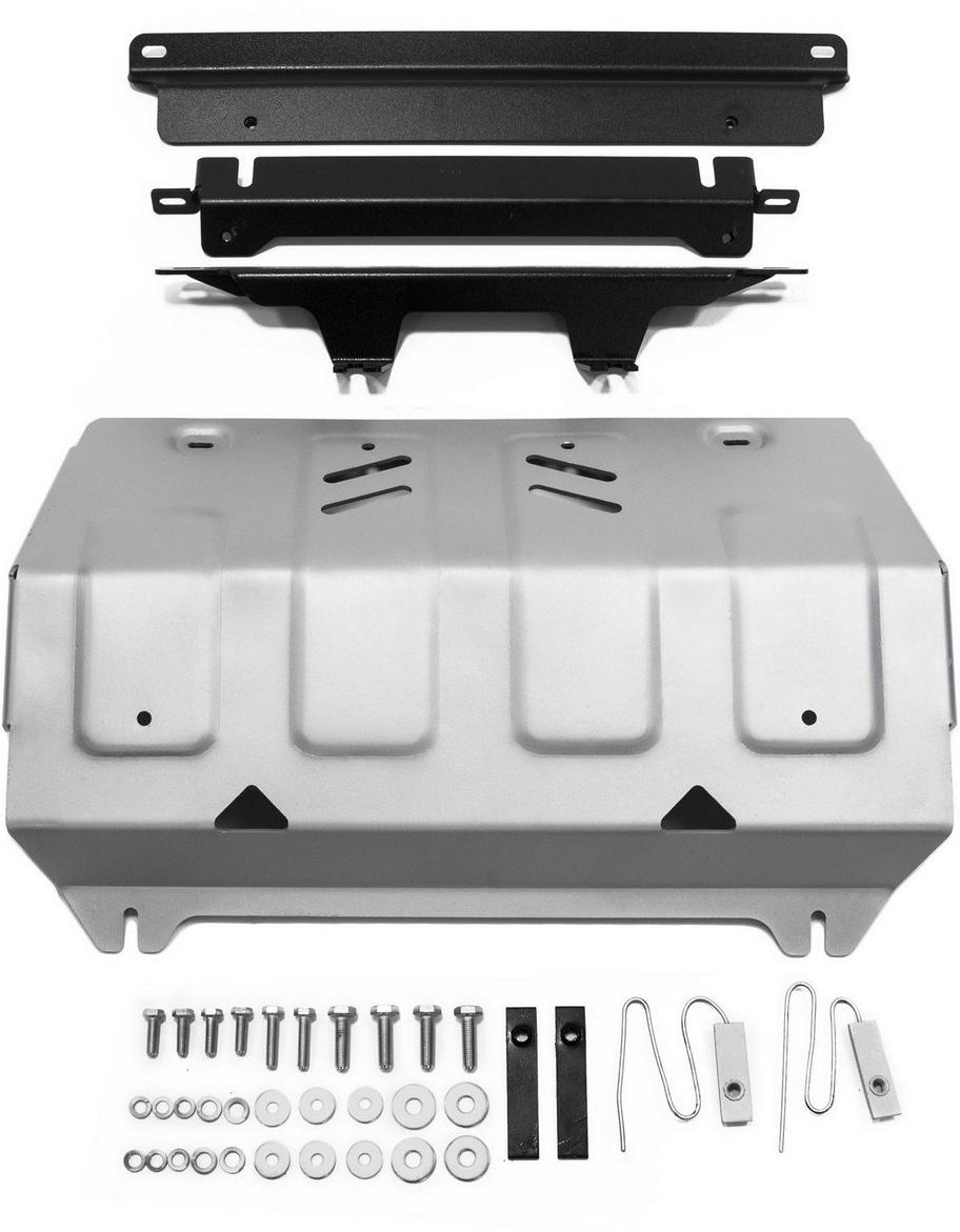 Купить Защита радиатора Rival для Fiat Fullback 2016- / Mitsubishi L200 2015- / Mitsubishi Pajero Sport 2016-, алюминий 4 мм