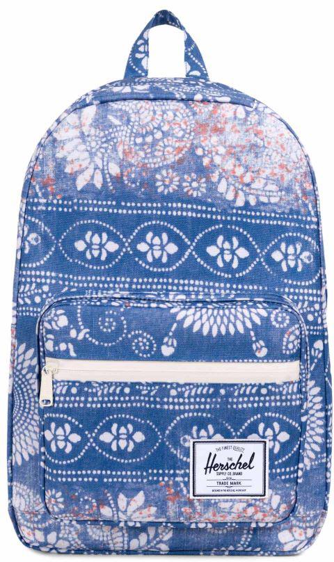 Рюкзак городской Herschel Pop Quiz, цвет: синий, белый, 22 л10011-01853-OSВ этом рюкзаке классические линии оформлены в аккуратную упаковку, чтоделает рюкзак Herschel Pop Quiz отличным вариантом для учебы или работы.Он снабжен мягким отсеком с флисовой подкладкой для 15-дюймовогоноутбука, а для мелочей и канцелярских принадлежностей имеется внешнийкарман на молнии со встроенным сетчатым органайзером. Особенности: Основной отсек на молнии. Внутренний карман с флисовой подкладкой для 15-дюймового ноутбука. Внутренний медиа-карман с портом для провода. Внешний карман на молнии со встроенным сетчатым органайзером. Нашивка с фирменным логотипом на кармане. Влагостойкая молния. Ручка для переноски. Регулируемые лямки. Верхний внешний карман с флисовой подкладкой для очков. Объем: 22 л.
