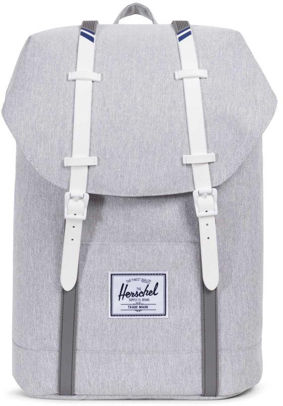 Рюкзак городской Herschel Retreat, цвет: светло-серый, 19,5 л10066-01866-OSHerschel Retreat - уменьшенная, а точнее, упрощенная версия легендарногорюкзака Little America, в котором удачно и невероятно гармонично сплетаютсяотголоски дизайна классических альпинистских рюкзаков и городскойсовременный функционал. Этот рюкзак буквально пронизан духомпутешествий и несомненно станет удобным и верным спутником в любыхпутешествиях. Особенности: Ручка для переноски. Регулируемые лямки. Основной отсек утягивается на шнурок и закрывается клапаном на магнитныхзастежках. Внутренний карман с флисовой подкладкой для 15-дюймового ноутбука. Внутренний медиа-карман. Нашивка с фирменным логотипом. Боковой карман на молнии. Объем: 19,5 л.