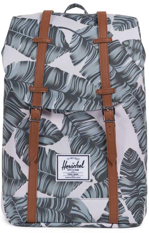 Рюкзак городской Herschel Retreat, цвет: серебристый, темно-зеленый, 19,5 л10066-01851-OSHerschel Retreat - уменьшенная, а точнее, упрощенная версия легендарного рюкзака Little America, в котором удачно и невероятно гармонично сплетаются отголоски дизайна классических альпинистских рюкзаков и городской современный функционал. Этот рюкзак буквально пронизан духом путешествий и несомненно станет удобным и верным спутником в любых путешествиях. Особенности: Ручка для переноски. Регулируемые лямки. Основной отсек утягивается на шнурок и закрывается клапаном на магнитных застежках. Внутренний карман с флисовой подкладкой для 15-дюймового ноутбука.Внутренний медиа-карман. Нашивка с фирменным логотипом. Боковой карман на молнии. Объем: 19,5 л.