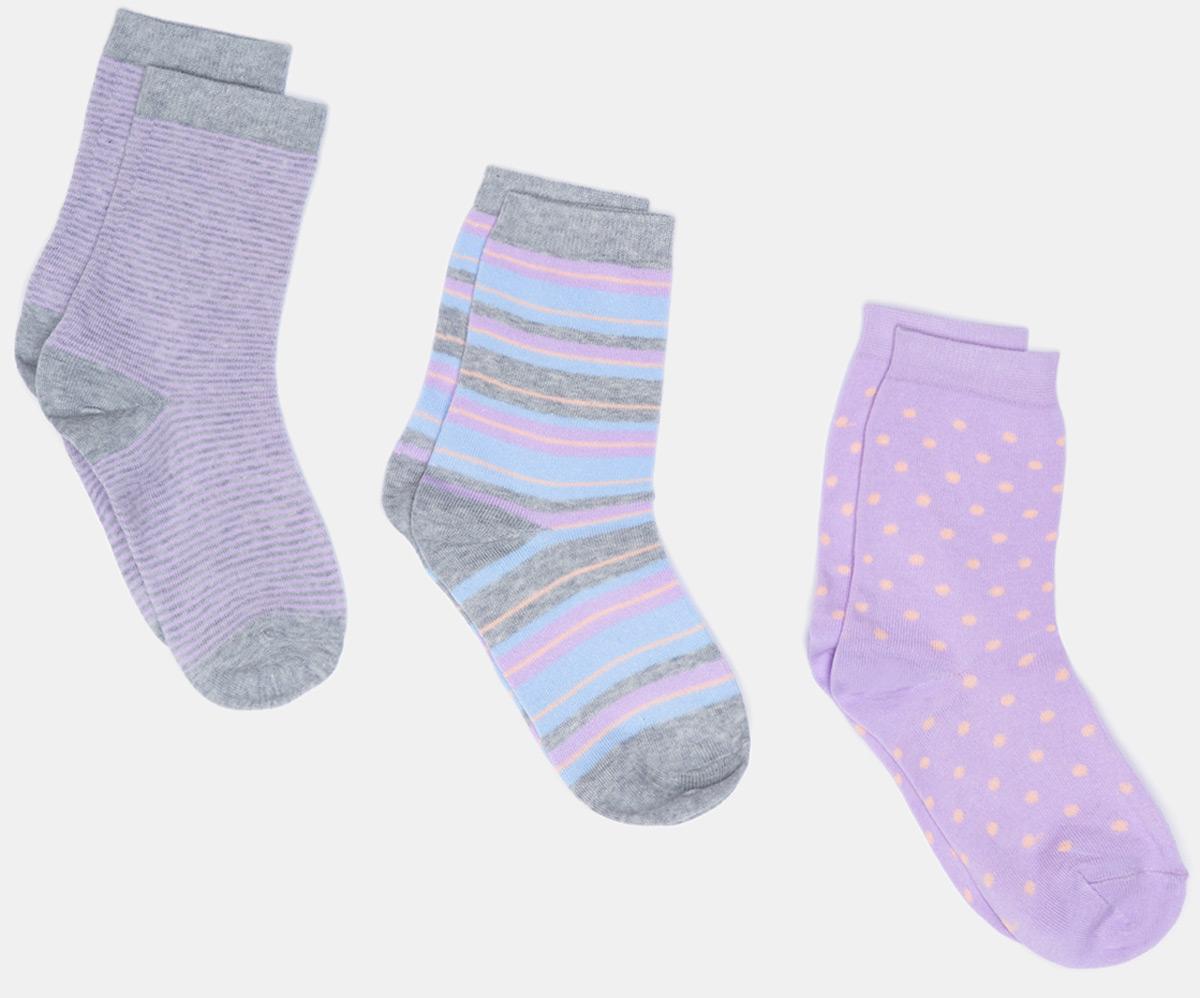 Носки женские Infinity Lingerie Dusia, цвет: мультиколор, 3 пары. 31204420080_8000. Размер 35/36
