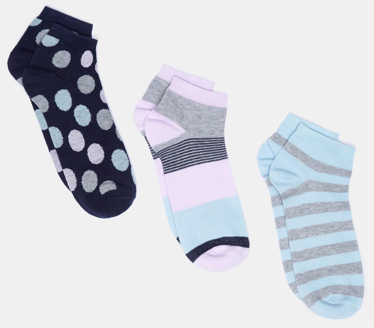 Носки женские Infinity Lingerie Masuri, цвет: мультиколор, 3 пары. 31204420077_8000. Размер 35/36