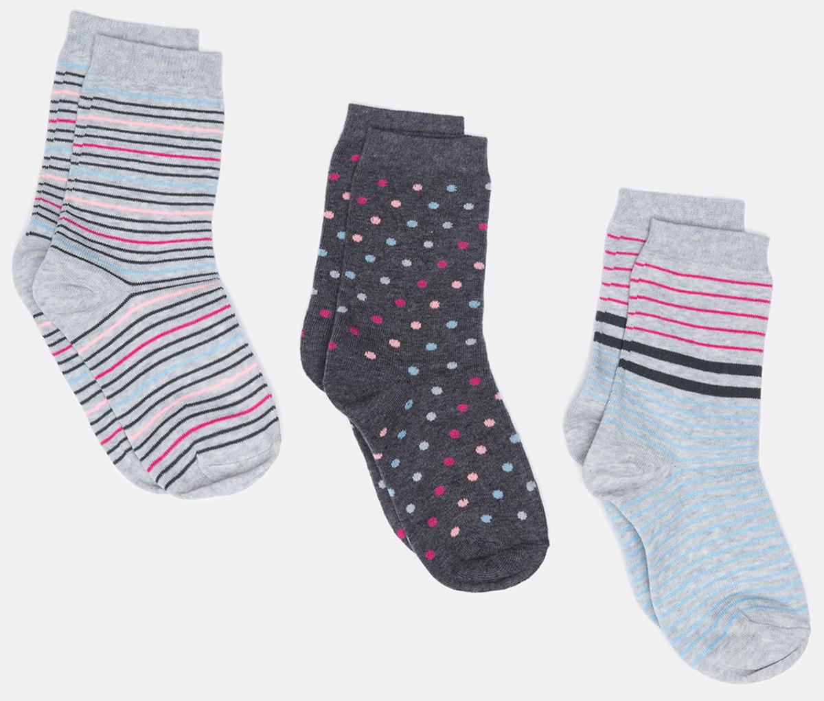 Носки женские Infinity Lingerie Trina, цвет: мультиколор, 3 пары. 31204420081_8000. Размер 35/36 носки 3 пары infinity kids для девочки цвет мультиколор