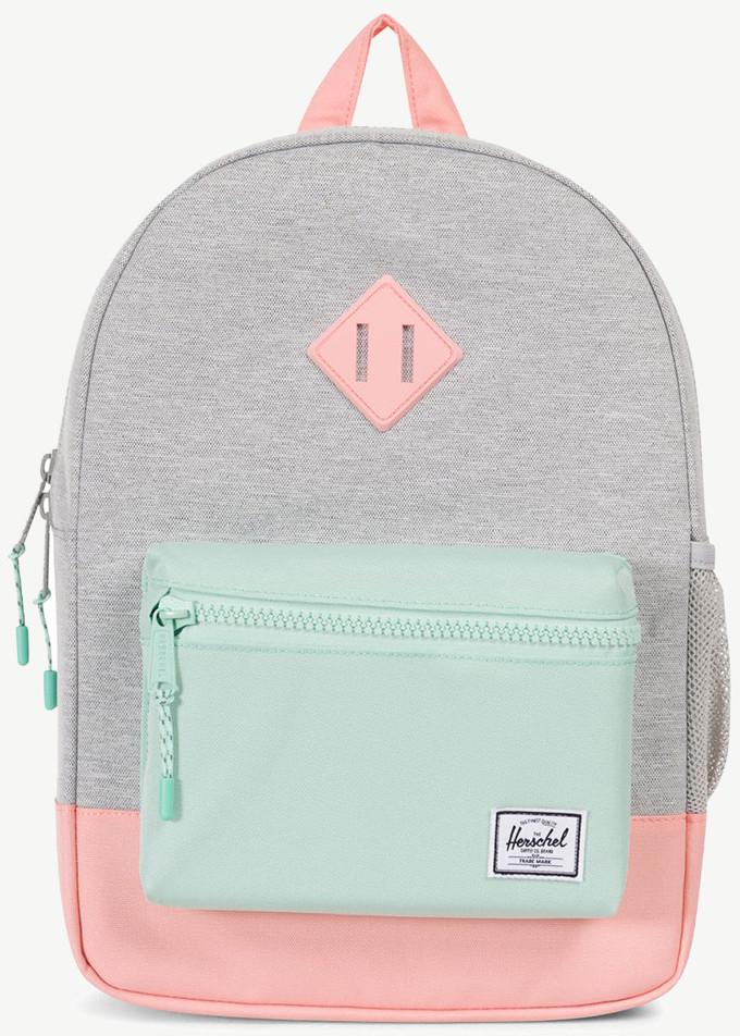Рюкзак детский Herschel Retreat Youth, цвет: светло-серый, голубой, розовый, 14 л рюкзак городской herschel settlement цвет светло зеленый черный 23 л 10005 01555 os