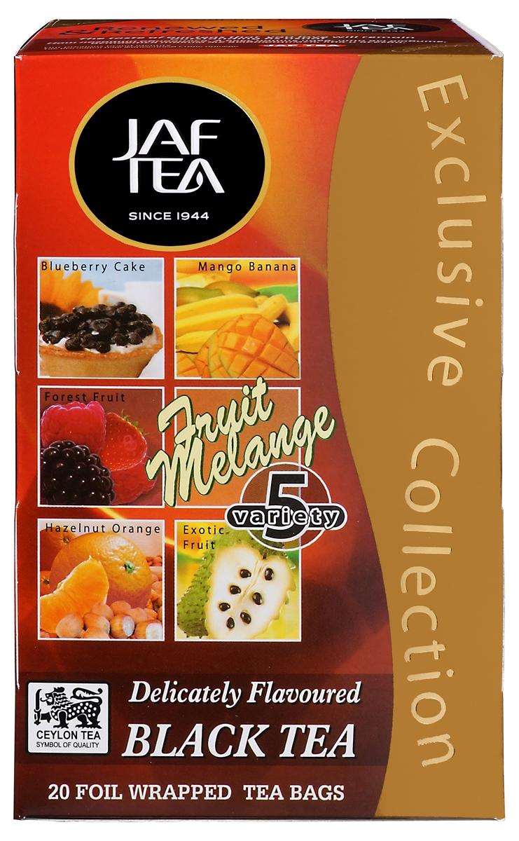 Jaf Tea Fruit Melange ассорти чай черный в пакетиках, 20 шт