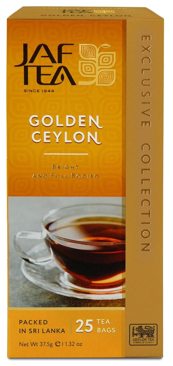 Jaf Tea Golden Ceylon чай черный в пакетиках, 25 шт kipling green tea with jasmine зеленый чай в пакетиках 25 шт