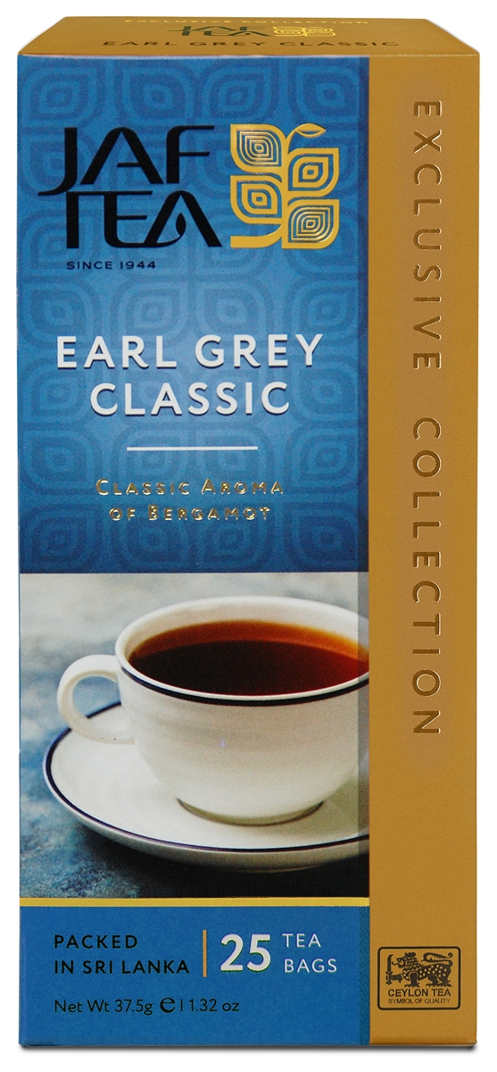 Jaf Tea Earl Grey Classic чай черный в пакетиках, 25 шт newby assam черный чай в пакетиках 25 шт