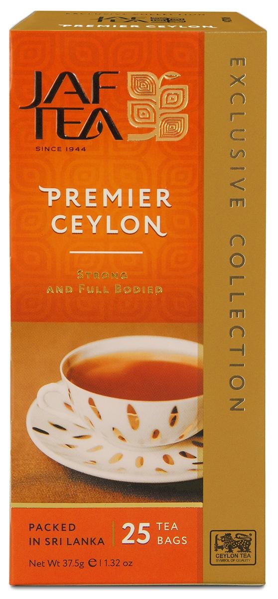 Jaf Tea Premier Ceylonчай черный в пакетиках, 25 шт jaf tea earl grey classic чай черный в пакетиках 25 шт