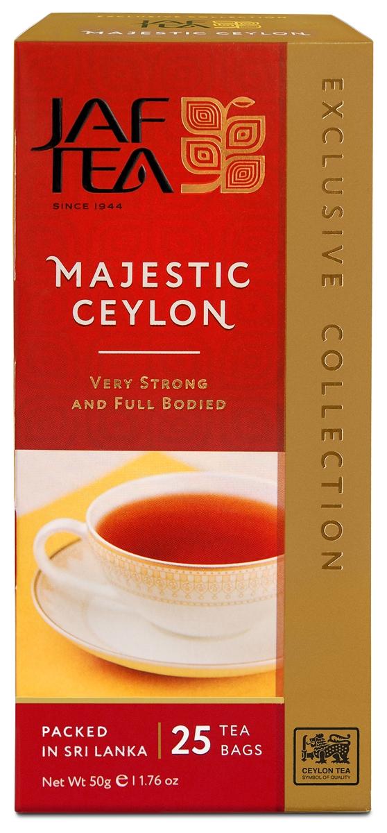 Jaf Tea Majestic чай черный в пакетиках, 25 шт newby assam черный чай в пакетиках 25 шт