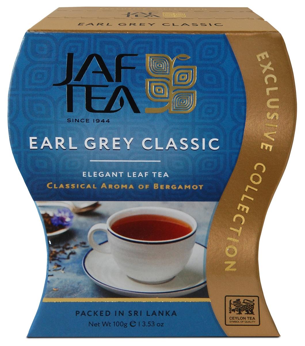 Jaf Tea Earl Grey Classic чай черный листовой с ароматом бергамота, 100 г ahmad tea earl grey черный чай 100 г жестяная банка