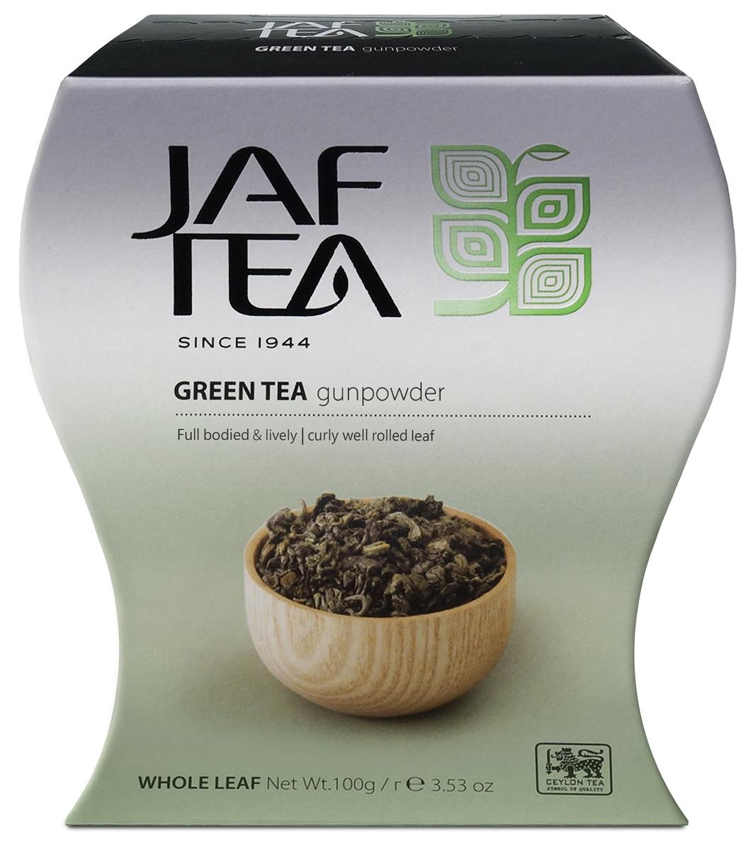 Jaf Tea GunPowder чай зеленый листовой, 100 г modern tea дахунпао 20 пакетиков растворимый чай 100