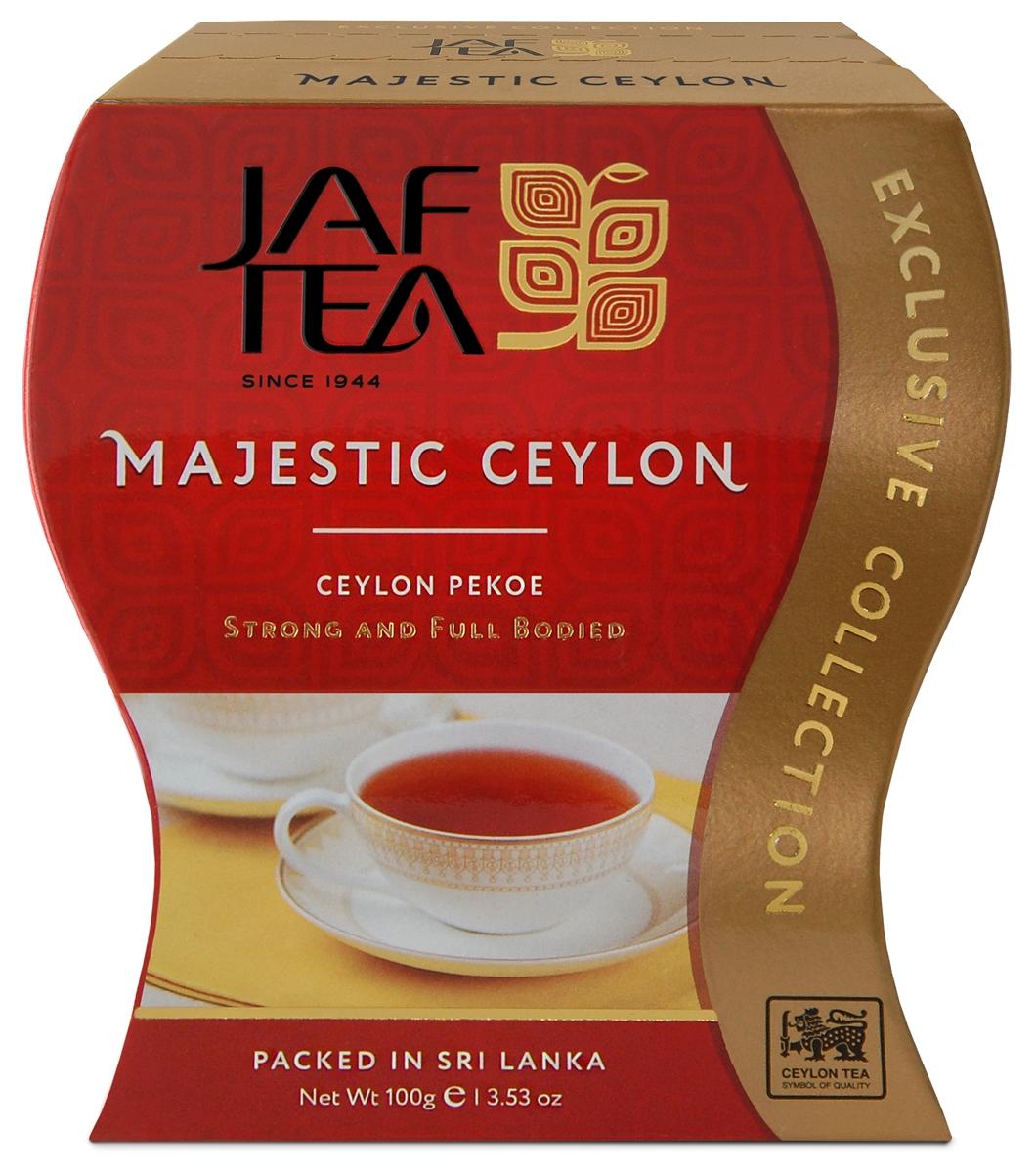 Jaf Tea Majestic сорт Pekoe чай черный листовой, 100 г mabroc эрл грей чай черный листовой 100 г