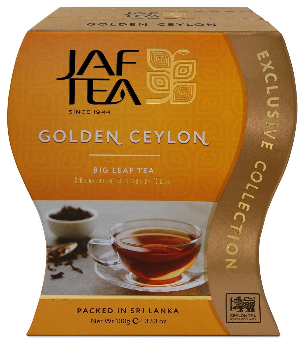 Jaf Tea Golden Ceylon сорт Оpa чай черный листовой, 100 г ceylon black tea fbop