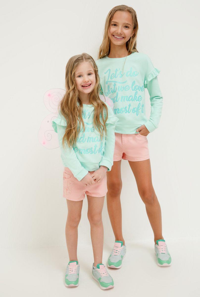 цены Джемпер для девочки Acoola Irena, цвет: светло-бирюзовый. 20220100161_9300. Размер 128