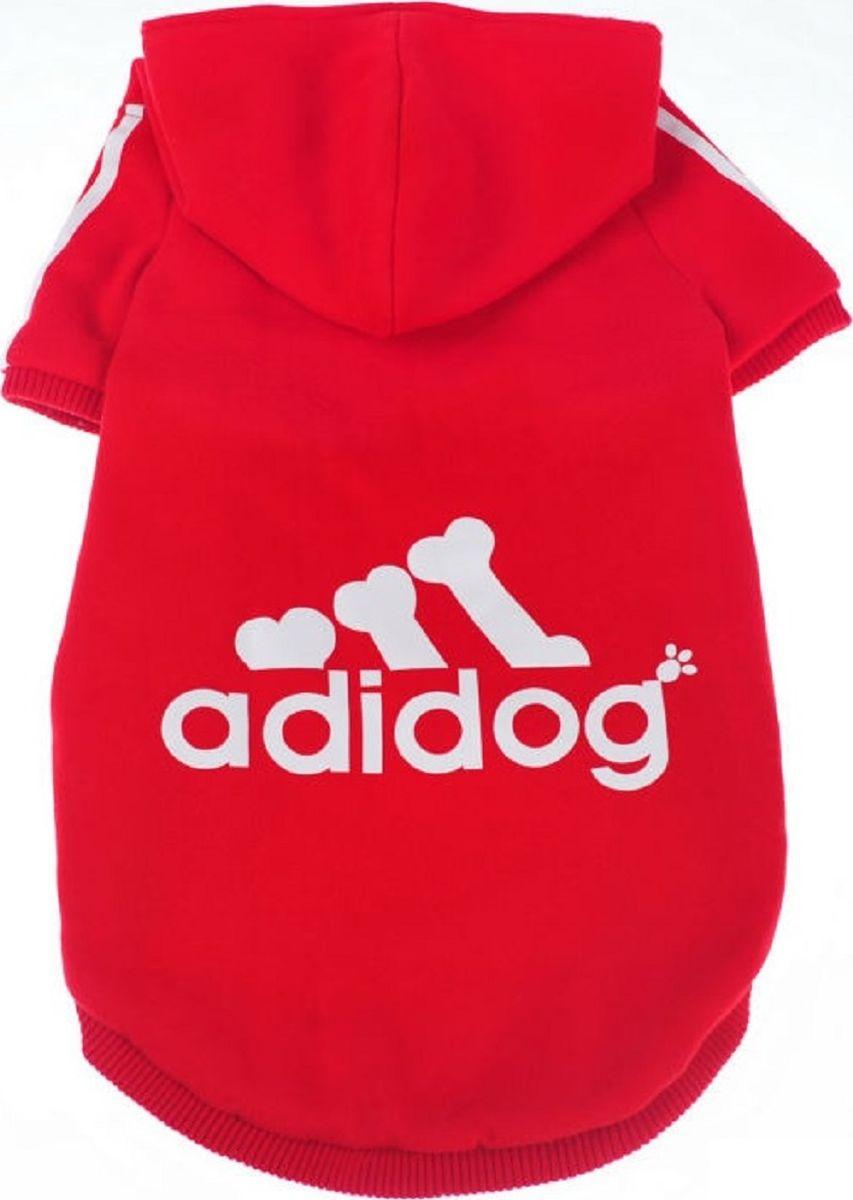 Толстовка для собак Fidget Go Adidog, унисекс. Размер L2212345678238Толстовка для собаки подходит для прохладной и холодной погоды. Мягкая, удобная ткань. Толстовка хорошее решение для спортивных собак: принимает форму тела питомца, не сковывает движения. Сезон осень/зима. Одевается через голову.