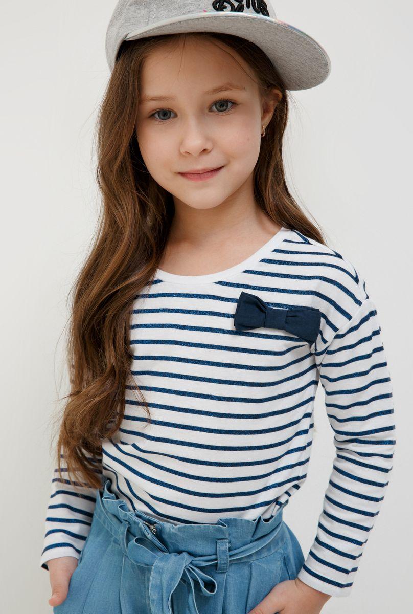 Футболка с длинным рукавом для девочки Acoola Nen, цвет: белый, синий. 20220100163_4400. Размер 128 подвесная люстра lumion placida 2998 3