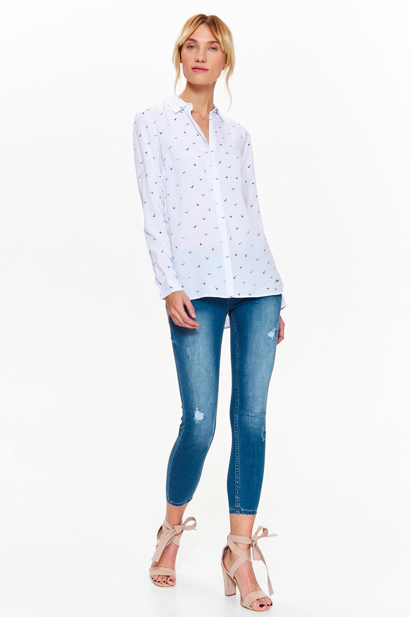 Рубашка женская Top Secret, цвет: белый. SKL2588BI. Размер 42 (50) женская рубашка european and american big c002617 2015