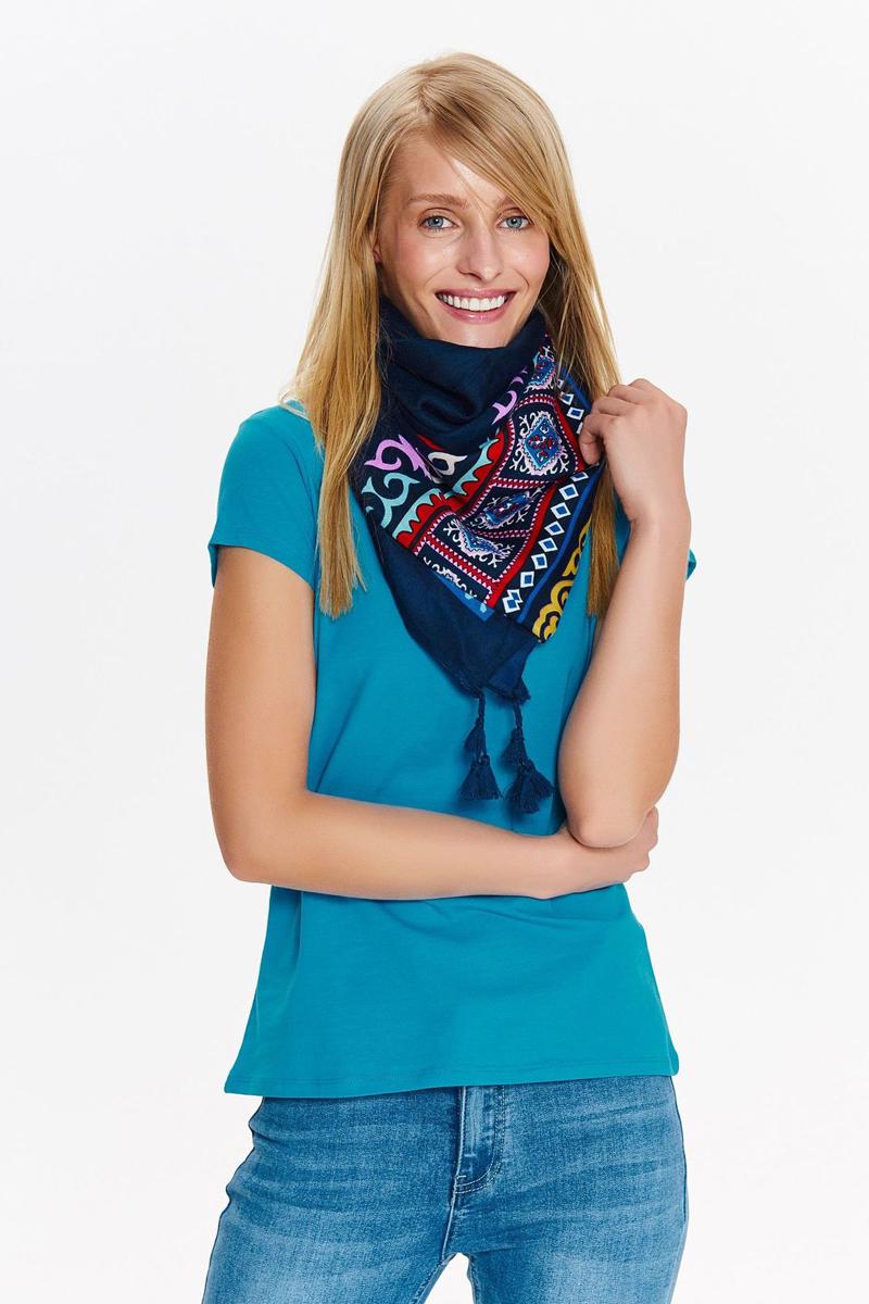 Футболка женская Top Secret, цвет: синий. SPO3483NI. Размер 42 (50) футболка женская nike pro top цвет белый 889540 100 размер s 42 44
