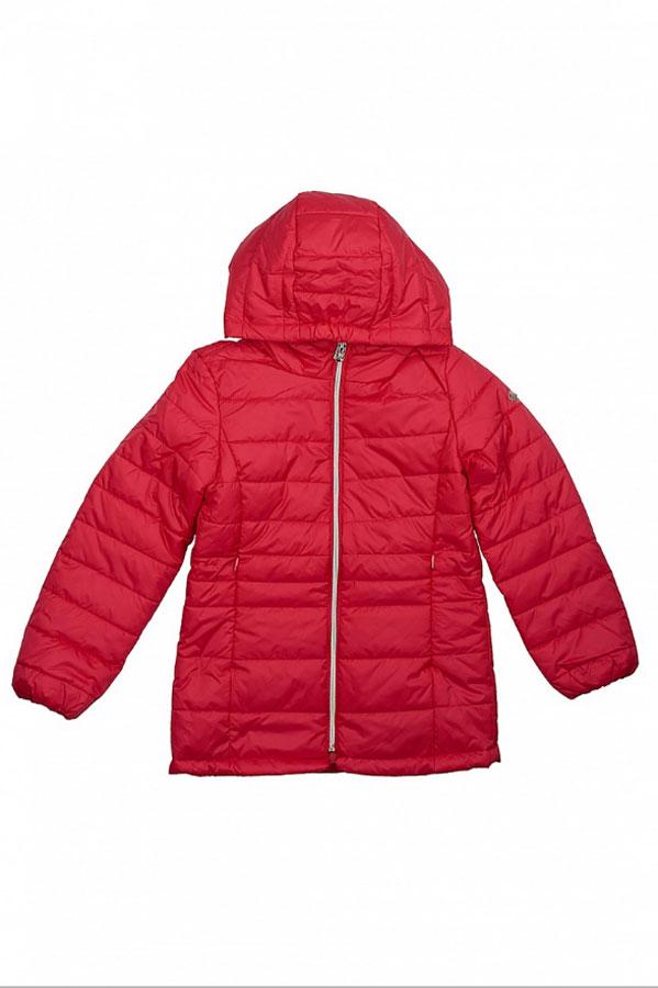 Куртка для девочки Baon, цвет: ярко-розовый. BJ038001_Bright Carmine. Размер 134/140BJ038001_Bright CarmineКуртка от Baon яркой расцветки добавит красок вашим весенним прогулкам. Манжеты и капюшон изделия слегка присборены при помощи эластичных вставок-резинок. Спереди расположена застежка-молния. Боковые карманы с молниями спрятаны в швы. Посадка изделия по талии регулируется при помощи эластичного клапана с кнопками на спине. Рукав куртки украшен очаровательной металлической эмблемой в виде бабочки.