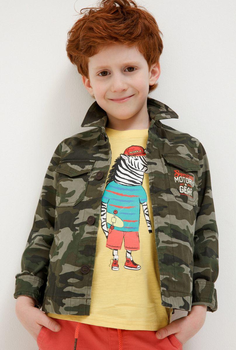 Куртка для мальчика Acoola Durian, цвет: хаки. 20120130125_8000. Размер 128