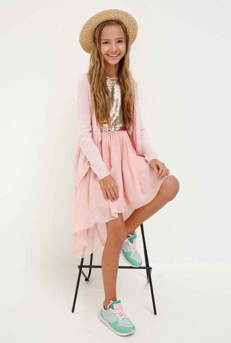 Платье для девочки Acoola Coati, цвет: светло-розовый. 20210200227_3400. Размер 164 платье overmoon by acoola overmoon by acoola ov003eguci55