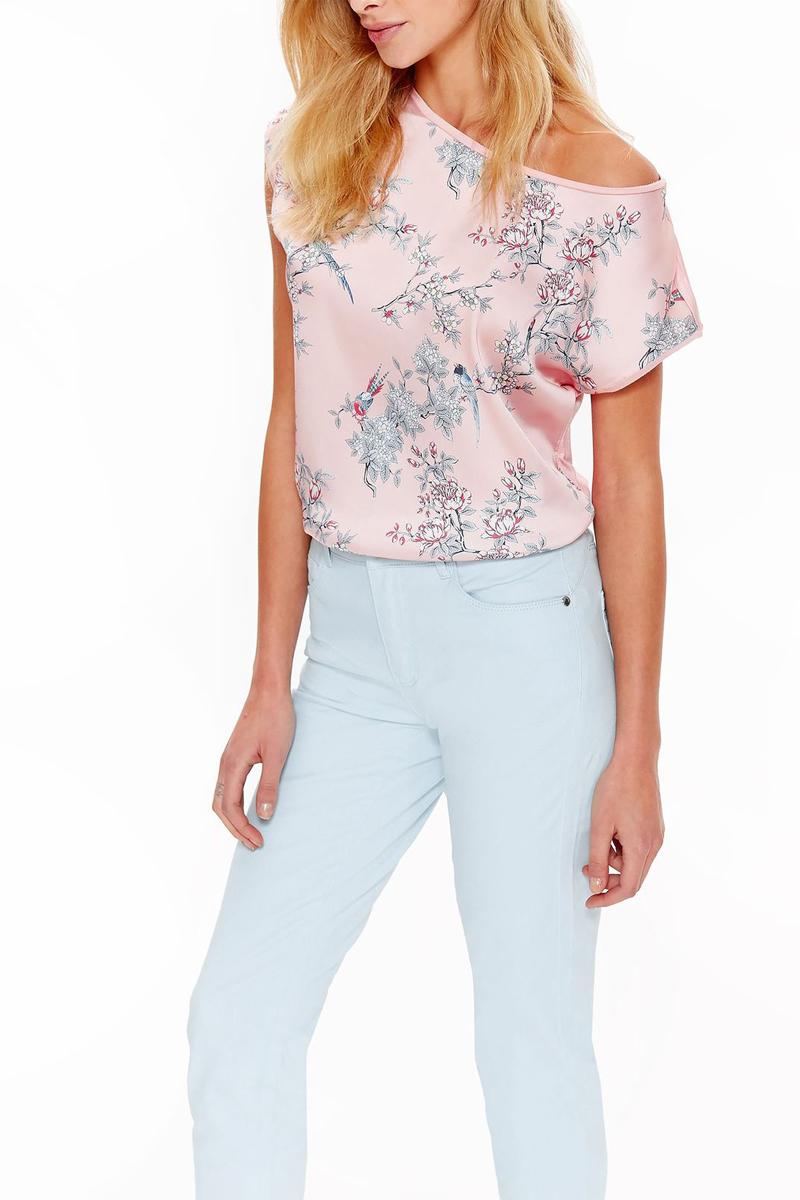 Футболка женская Top Secret, цвет: розовый. SPO3554RO. Размер 42 (50) футболка с полной запечаткой женская printio весенняя роза
