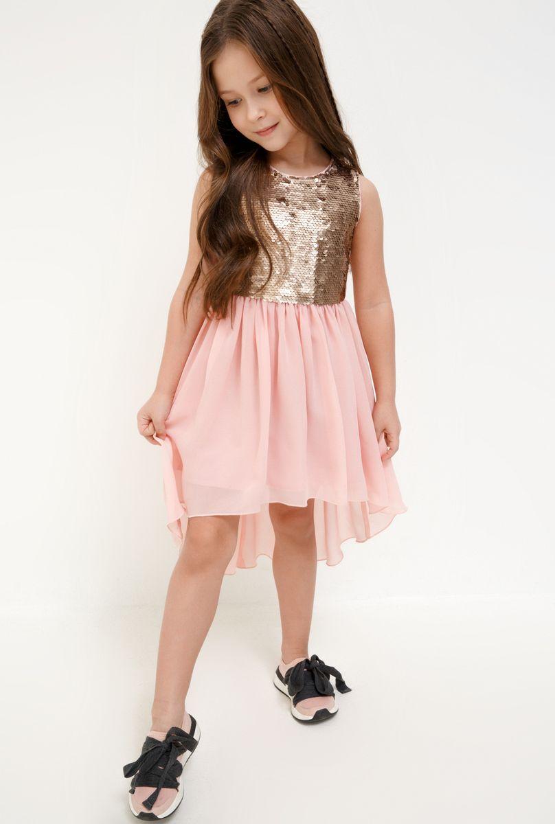 Платье для девочки Acoola Coati, цвет: светло-розовый. 20220200250_3400. Размер 128 леггинсы для девочки acoola fleming цвет бледно розовый 20220160127 размер 128