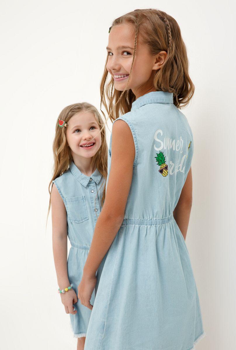 Платье для девочки Acoola Namaste, цвет: голубой. 20220200249_400. Размер 128 платье overmoon by acoola overmoon by acoola ov003eguci55