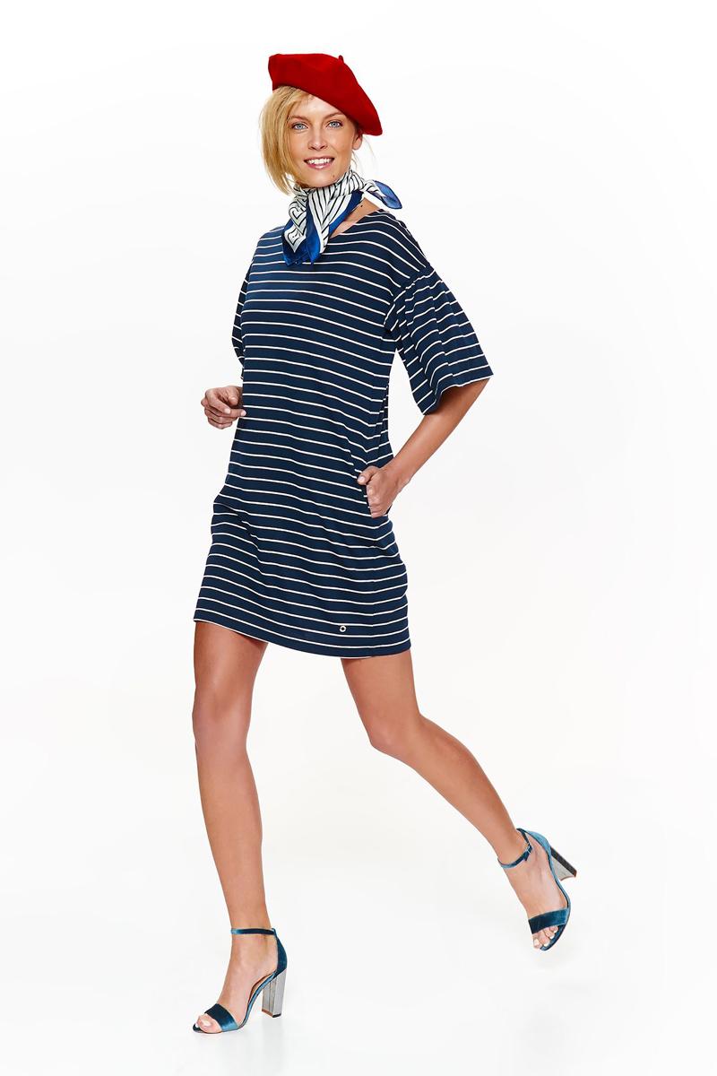Платье Top Secret, цвет: темно-синий. SSU2107GR. Размер 42 (50)SSU2107GRЭлегантное платье Top Secret, изготовленное из высококачественного материала, придется по душе любой моднице. Модель свободного кроя с круглым вырезом горловины и короткими рукавами.Идеальный вариант для создания эффектного образа.
