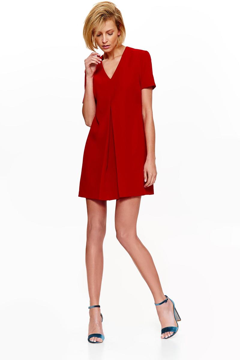 Платье Top Secret, цвет: красный. SSU2113CE. Размер 40 (48) футболка с коротким рукавом quelle top secret 1022449