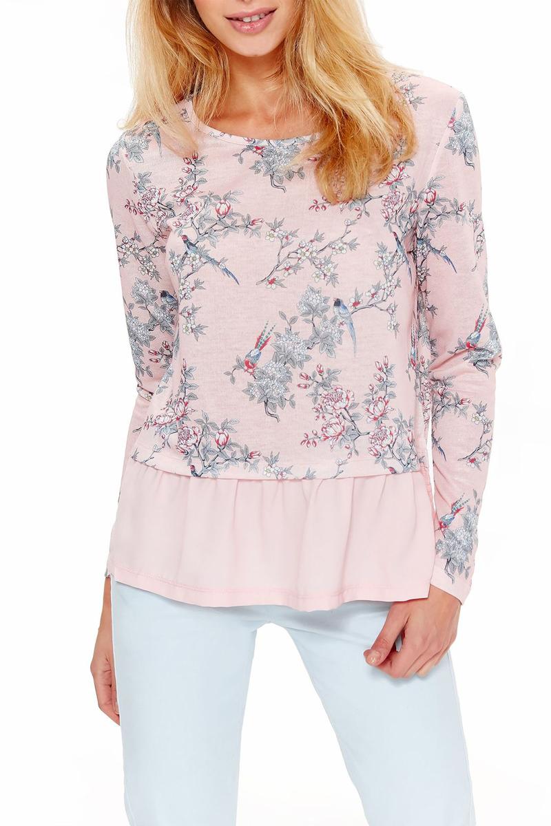 Блузка Top Secret, цвет: розовый. SSW2326RO. Размер 42 (50) блузка quelle top secret 1033699