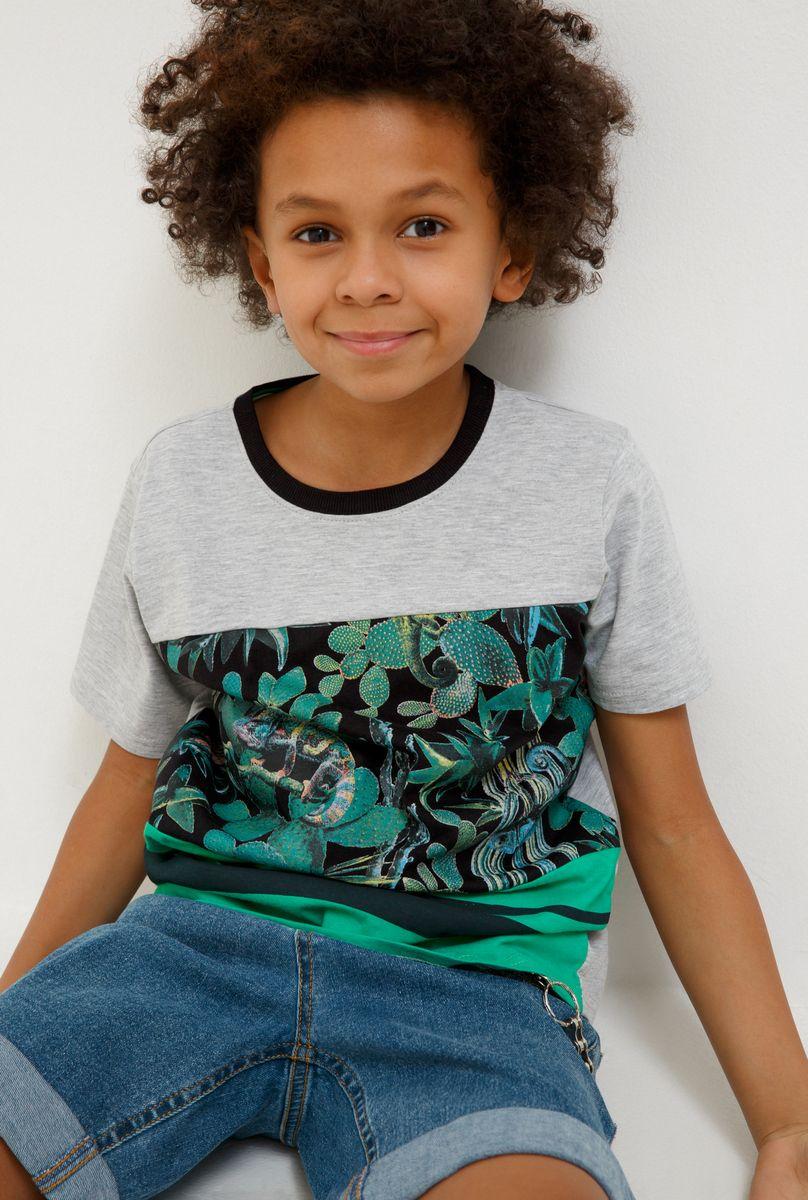 Футболка для мальчика Acoola Carroll, цвет: зеленый. 20110110112_2300. Размер 170 футболка для мальчика acoola remark цвет светло бежевый 20110110105 300 размер 170