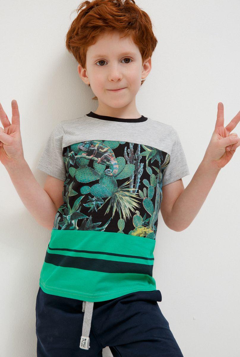 Футболка для мальчика Acoola Carroll, цвет: зеленый. 20120110113_2300. Размер 122 футболка для мальчика acoola carroll цвет зеленый 20120110113 2300 размер 122