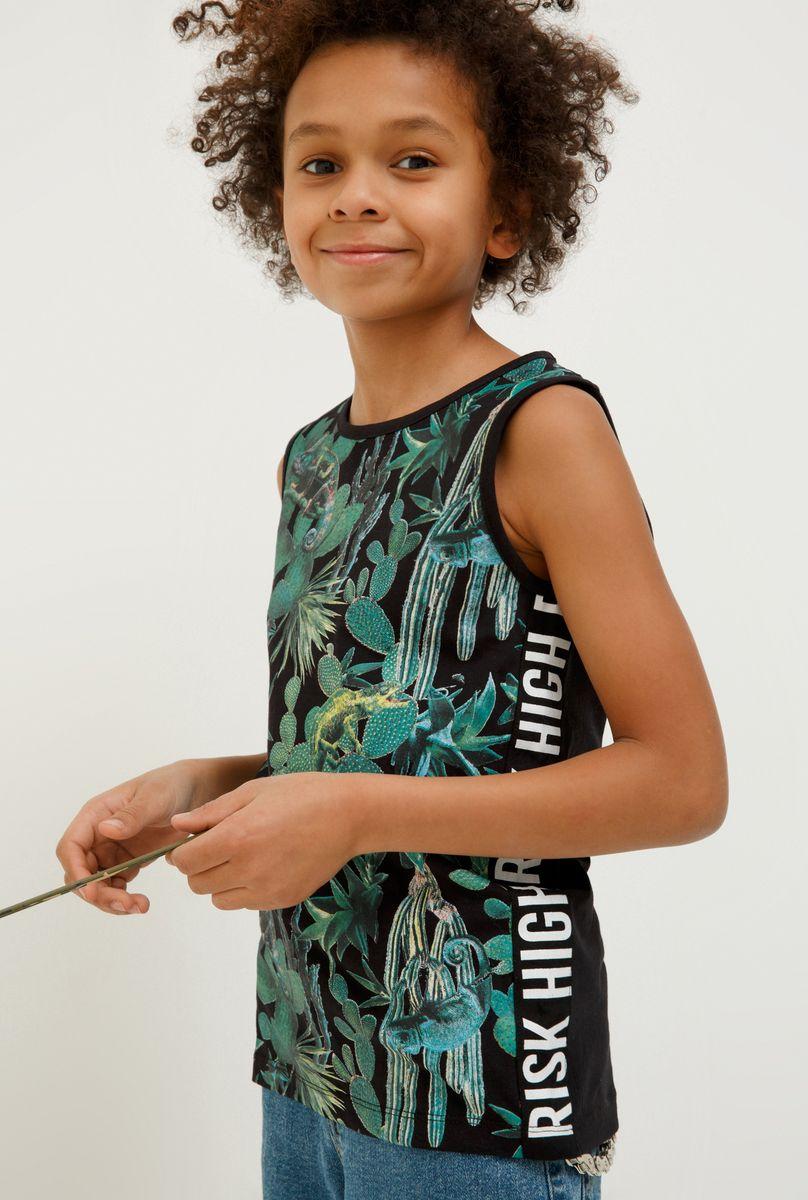 Майка для мальчика Acoola Hugo, цвет: черный. 20114220014_9000. Размер 164