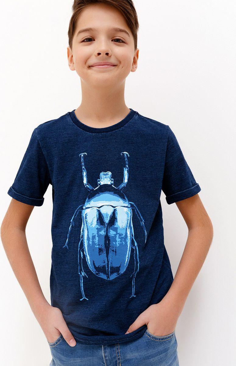 Футболка для мальчика Acoola Ramires, цвет: синий. 20110110096_500. Размер 170 футболка для мальчика acoola remark цвет светло бежевый 20110110105 300 размер 170