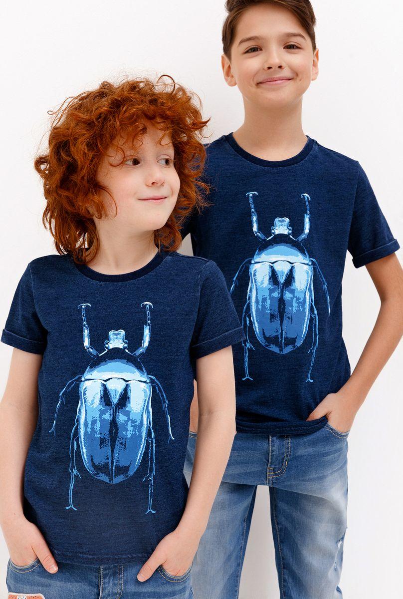 Футболка для мальчика Acoola Ramires, цвет: синий. 20120110097_500. Размер 128 футболка acoola acoola ac008egsdy35