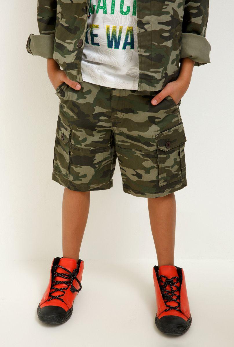 Шорты для мальчика Acoola Tapir, цвет: хаки. 20110420030_8000. Размер 134 футболка для мальчика acoola carroll цвет зеленый 20120110113 2300 размер 122