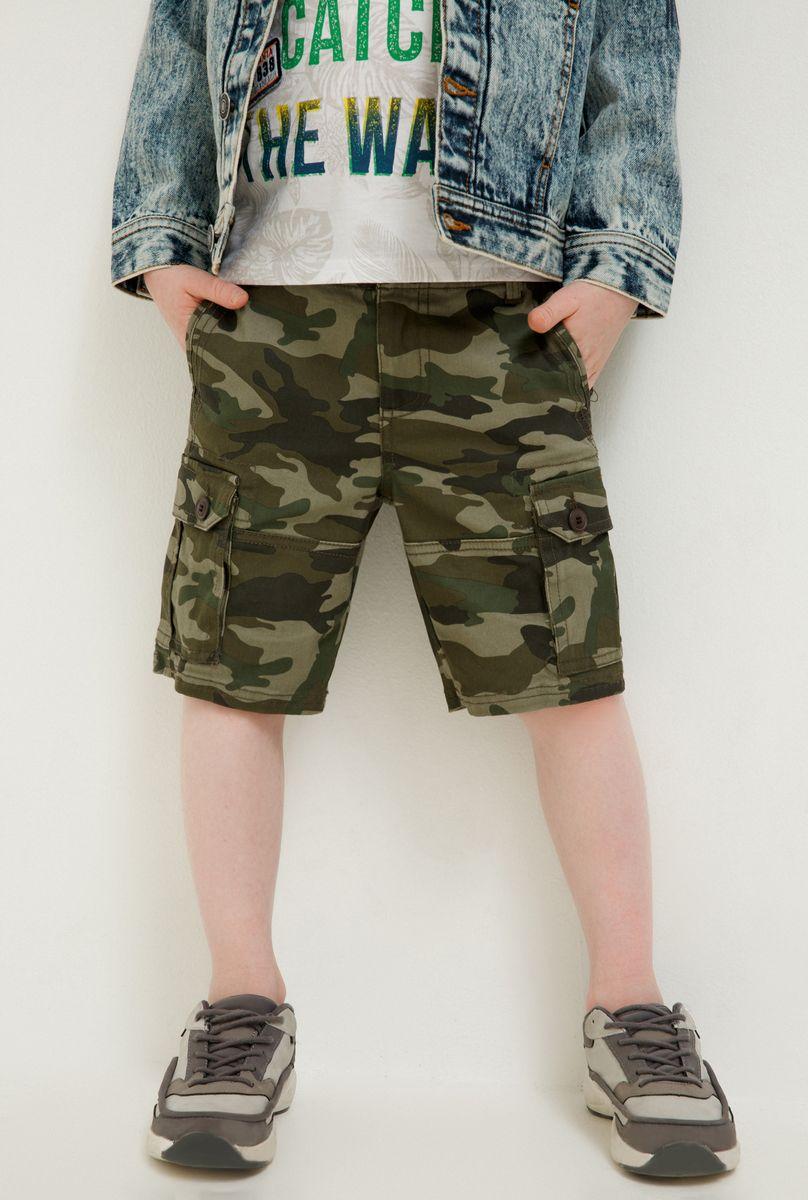 Шорты для мальчика Acoola Tapir, цвет: хаки. 20120420032_8000. Размер 128 футболка для мальчика acoola carroll цвет зеленый 20120110113 2300 размер 122