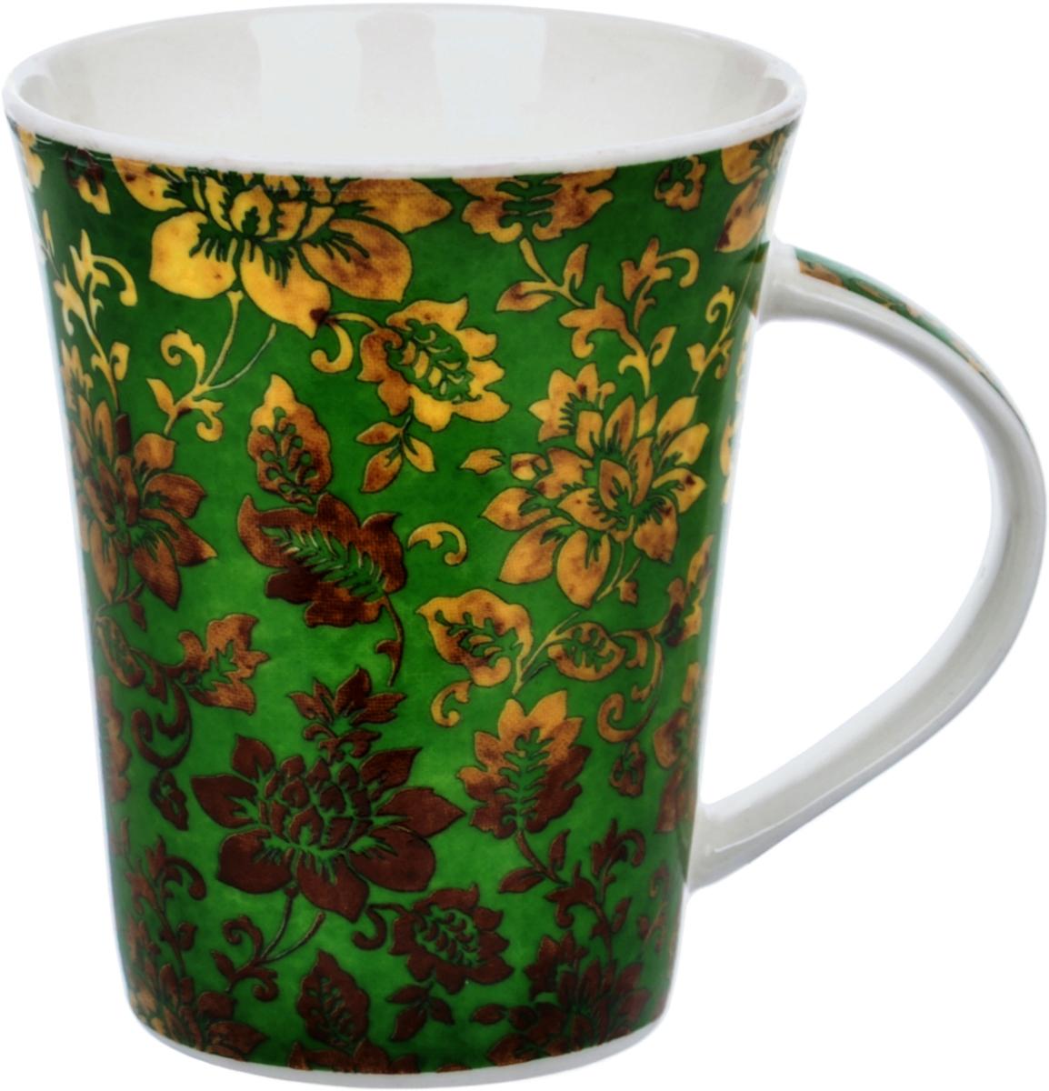 Кружка Liling Quanhu Восточный орнамент, цвет: зеленый, 380 млLQB18-C108_3Кружки Quanhu - глянцевые кружки из молочно-белого фарфора с цветными деколями. Гладкие, устойчивые, с удобной широкой ручкой. Одинаково хороши для горячих и холодных напитков. Поскольку кружка отражает индивидуальность своего владельца, вы сами выбираете, какими вас будут воспринимать окружающие. Нежные, в сдержанных тонах, или яркие футуристические, буйство красок и фантазии. Для офиса и для дома. Для компании, семьи. Хороший подарок коллегам и близким. Кружки можно использовать в СВЧ и мыть в ПММ.